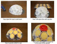 cupcakes en bouquet - Buscar con Google