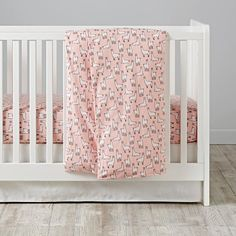 Llama-a-Rama Flannel Crib Bedding | The Land of Nod