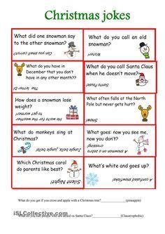 Christmas jokes worksheet - Free ESL printable worksheets made by teachers Christmas Jokes For Kids, Christmas Worksheets, Christmas Printables, Christmas Holidays, Xmas, Christmas Puzzle, Christmas Christmas, Holiday Games, Christmas Party Games