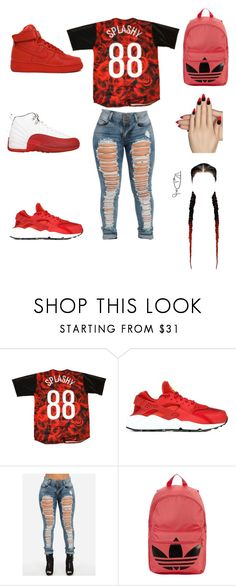 """""""stussy"""" by aleisharodriguez ❤ liked on Polyvore featuring NIKE, adidas Originals and Static Nails"""