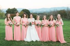 Southern Savvy Events | Lesley & Kyle | Crest Center & Pavilion Wedding | Asheville Wedding | Outdoors Wedding | Bridesmaids | Bouquets | Bridal Party | Pink Long Dresses | Fall Wedding | Wedding Photos At The Mountains | Wedding With A View | Leaf Season | Mountain Wedding | Wedding Inspiration | Wedding Details