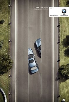 BMW Lane Assist by emre gologlu, via Behance | #ads #adv #marketing #creative #publicité #print #poster #advertising #campaign #jablonskimarketing