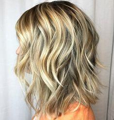 Dimensional Wavy Blonde Shag