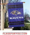 "Baltimore Ravens Applique Banner 44"" x 28"""