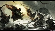 ArtStation - Siege, Wenjun Lin - Back Space Fantasy, High Fantasy, Fantasy Art, Character Art, Character Design, Character Inspiration, Ninja Art, Samurai Art, Sad Art