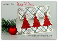 Stampin Up Peaceful Pines for the Happy Stampers Blog Hop, card by Sandi @ www.stampinwithsandi.com