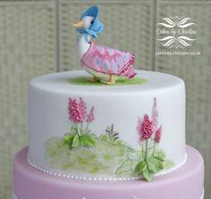 Jemima Puddleduck Christening cake. Cakes by Christine on CakesDecor