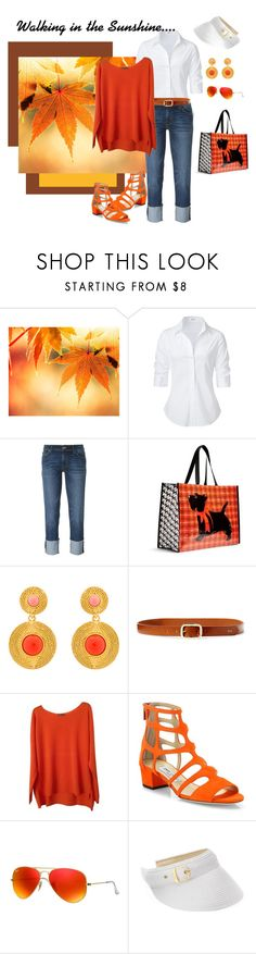"""Just Starting Out"" by jjsunnygirl ❤ liked on Polyvore featuring Steffen Schraut, Hudson, Vera Bradley, Oscar de la Renta, Ralph Lauren, Vince, Jimmy Choo, Ray-Ban and SONOMA Goods for Life"