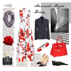 #193 Modern Dress by aminahs-hijab-diary on Polyvore featuring rag & bone, Christian Louboutin, Hermès, Tory Burch, Gucci and modern