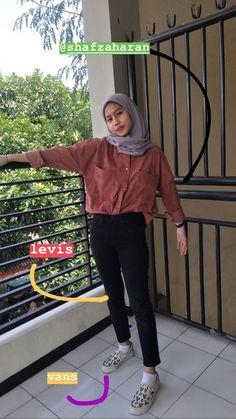 Lazy Fashion, Modern Hijab Fashion, Street Hijab Fashion, Hijab Fashion Inspiration, Muslim Fashion, Ootd Fashion, Fashion Outfits, Stylish Hijab, Casual Hijab Outfit