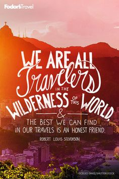 We are all travelers.