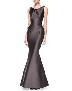 Sleeveless Seamed Mermaid Gown by Zac Posen at Bergdorf Goodman.