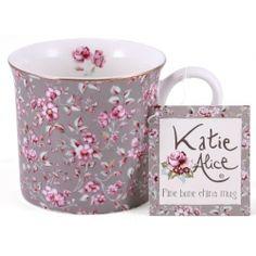 Katie Alice 'Ditsy Grey Floral' Fine Bone China Palace Mug