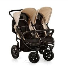 Hauck Roadster Duo SLX Double Pushchair (Caviar/Almond). Twins on the way? Doesnt mean you cant have an easy to manoeuvre and stylish pushchair. (#afflink)