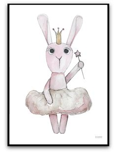 """Poster """"Ballerina rabbit""""  My paintings are in the web shop www.avanni.se a Swedish company We ship to Denmark, Norway, Finland!  Mina målningar finns i webb shop  www.avanni.se ett Svenskt företag Vi sänder till Danmark, Norge, Finland!"""