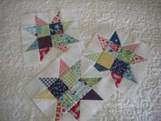 Scrappy Star Blocks, by a Quilting Life