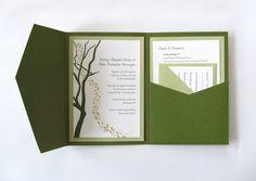 Wedding Invitation by Megan Emily C, via Behance