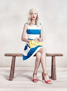 Patricia van der Vliet for MAX Spring 2012 Campaign by Willy Vanderperre... Great dress/colors