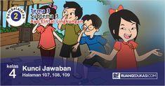 Kunci Jawaban Tema 3 Kelas 4 Halaman 107 108 109 Buku Siswa Tematik Revisi Berkelas Sekolah Dasar Buku