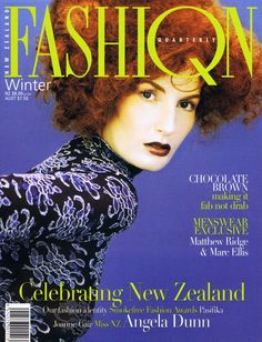 ANGELA DUNN FASHION QUARTERLY WINTER, 1997 COVER PHOTOGRAPHED BY : CRAIG OWEN