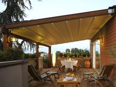 outdoor space with awning - Google Search