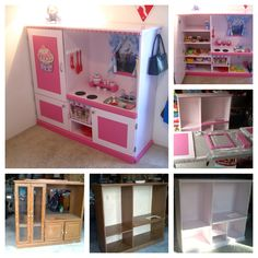Play Kitchen from Entertainment Center. Hours of fun!