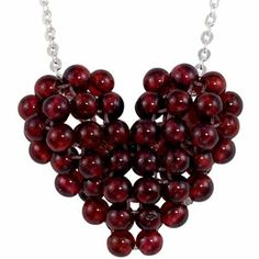 Sterling Silver Genuine Garnet Bead Necklace - jcpenney