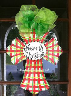 Awesome Christmas Door Decor Idea (Etsy)
