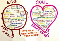 Ego vs. Soul. Move from your head to your heart!