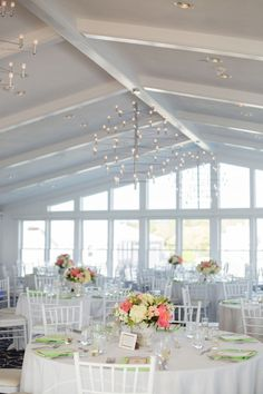 The flowers are perfect for this room! Great design. Lovely, bright Lilly Pulitzer themed wedding