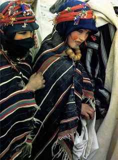 Women from the High Atlas Mountains . Morocco