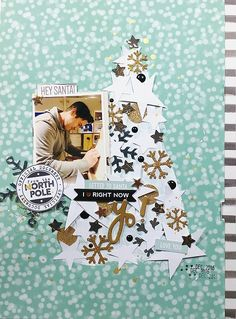 Send letters to Santa and capture it on a #scrapbook page like @janammcc did! What a fun idea! She uses a lot of our 3D Foam products to create dimension and shine! See her #processvideo to show how it's done - visit the blog. #tutorial #papercraft #scrapbookadhesivesby3l #adhesives