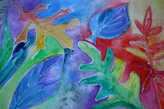 final-project-glue-salt-watercolor-resist-fall-leaves-colorful-pink-and-green-mama-blog-kid-art-project
