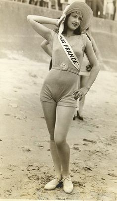 Miss France, a contest at the first Miss World competition, which was held in Galveston, TX during the 1920s.