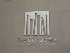 The City Library logo - environmental signage Typography Logo, Library Logo, City Library, Corporate Design, Graphic Design Typography, Wayfinding Signage, Signage Design, Ui Design, Visual Identity