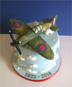 Spitfire Cake for a Wake - Cake by #CakeyCake www.facebook.com/childscakeycake