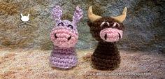 Funny Amigurumi by Pebie: New free pattern. Nativity set II: donkey and ox
