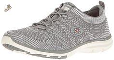 Skechers Sport Women's Galaxies Fashion Sneaker, Gray/White, 9 M US - Skechers sneakers for women (*Amazon Partner-Link)