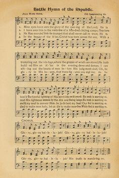 "Sheet music, ""Battle Hymn of the Republic."""