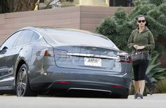 Katy Perry incognito with her Tesla For more, check out: www.evannex.com