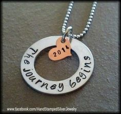 Hand Stamped Personalized Graduation Necklace by StampTheStory, $32.00