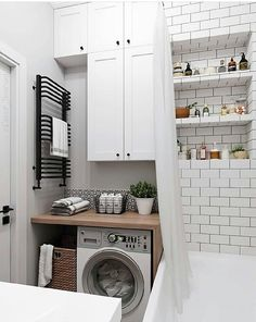 20 Brilliant Laundry Room Ideas for Small Spaces - Practical & Efficient Breathtaking small laundry/utility room ideas // small bathroom laundry room combo ideas House Bathroom, Small Bathroom, Small Spaces, Laundry Room Bathroom, Bathroom Interior Design, Bathroom Decor, Interior, Bathroom Design, Utility Rooms