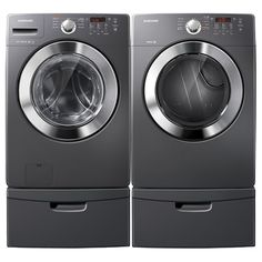 Samsung 4.1 Cu. Ft. Front Load Steam Washer & 7.3 Cu. Ft. Electric Steam Dryer  1599.98 Ultra energy- and water-efficient, the modern and innovative Samsung WF365 Washing Machine has a 4.1 cu. ft. capacity and ENERGY STAR qualification