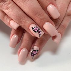 Wow Nails, Cute Nails, Butterfly Nail Designs, Semi Permanente, Acrylic Nail Shapes, Acrylic Nails, Lines On Nails, Edgy Nails, Leopard Nails
