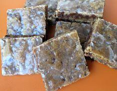 Iced Espresso Bars: chewy-soft espresso chocolate chip bars with a crunchy cinnamon glaze   The Monday Box