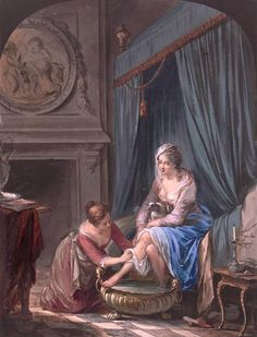 Laquy, Willem Joseph (b,1738)- Woman Taking Bath, 1771