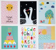 Set of six postcards 2 by Ninainvorm on Etsy