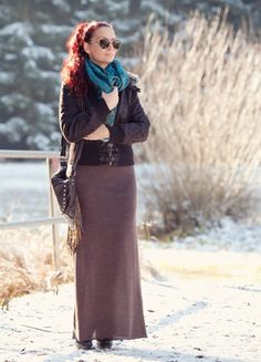 ways to wear long skirts0061