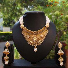 Designer Kundan & Pearl Necklace Set