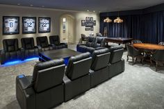 Dallas Cowboys Inspired Game and Media Room contemporary media room